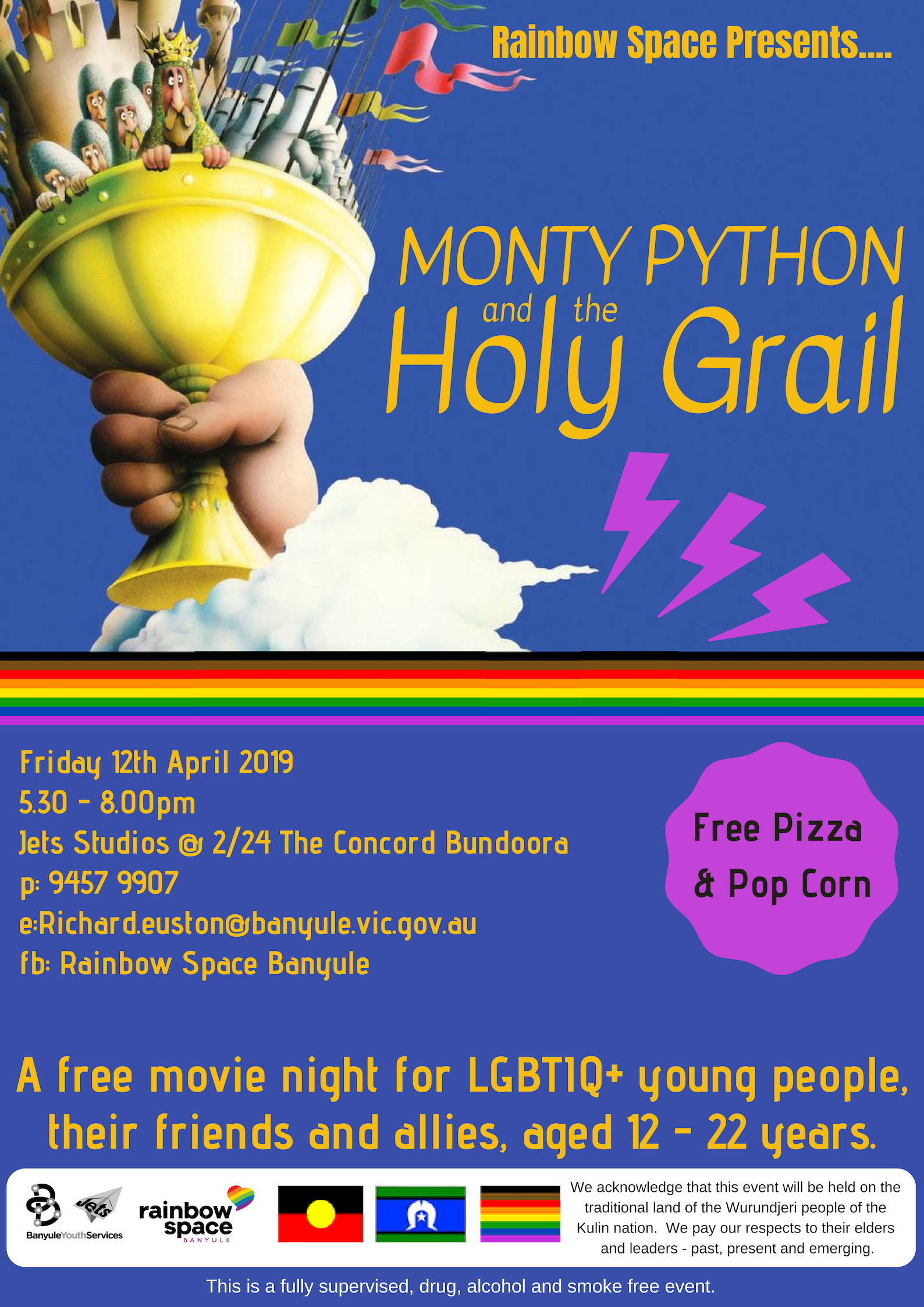 Rainbow Space Movie Night April 2019 | Banyule Youth Services